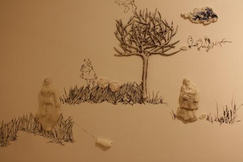 Porcelain, Slip casting and hand-build, enamel decoration, 2014