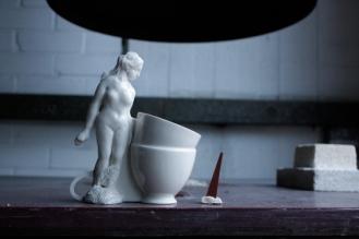 Sun Ae Kim_Tea Break_Porcelain_ 2014