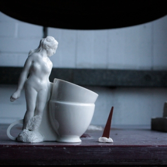 Sun Ae Kim_Tea Break_Porcelain_ 2014