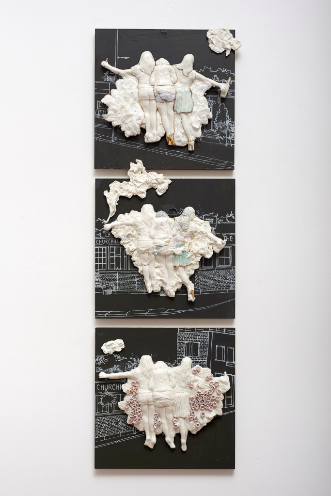 Sun Ae Kim_Three Sisters_2014_Porcelain_90x90cm_Photo by Soon Hak Kwon